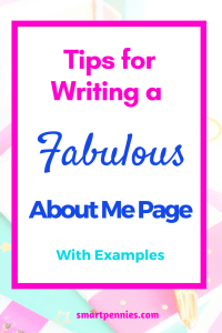 how to write the perfect about me page