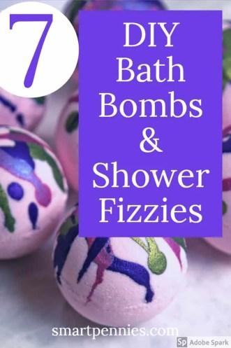 diy bath bombs & shower fizzies