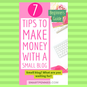 Beginners guide: 7 tips to make money with a small blog - Blogging Lifestyle DIY & Crafts