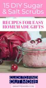 You would be amazed at what you can create from your Kitchen cupboards. Save money make your own DIY Sugar or Salt scrubs with over 15 recipes to choose from you are sure to find something that is easy to make today. What about making some handmade gifts? Try out these recipes today.
