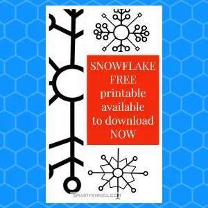 FREE Snowflake Printable templates- make them large or small.
