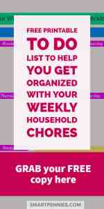 Fancy Grabbing a free TO DO list template checklist to help you get organized for your weekly household chores