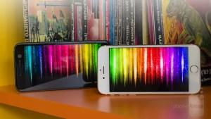 HTC10 VS iPhone6sディスプレイ比較