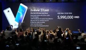 Zenfone3 Laserのスペックと価格