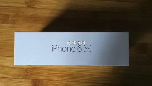 iPhone6 SEの化粧箱がリーク