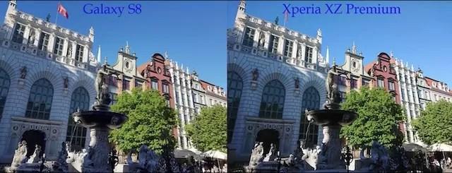 Xperia XZ PremiumとGalaxy S8カメラ比較