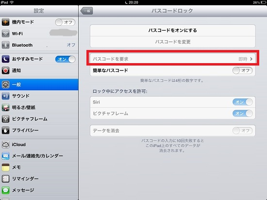 iPad mini passcode lock10