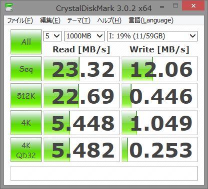 Toshiba micro-sd 64GB CrystalDisk