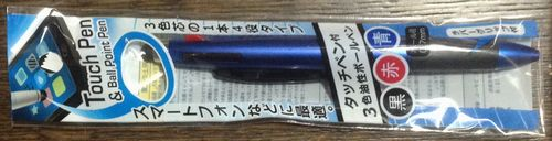 キャンドゥ3色ボールペン型タッチペン01
