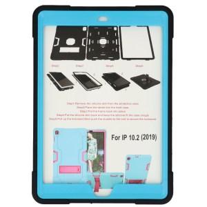 iPad (2019) 10.2 inch zwart - lichtblauwe Shockproof Case voor