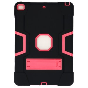 iPad (2019) 10.2 inch zwart - roze Shockproof Case achter