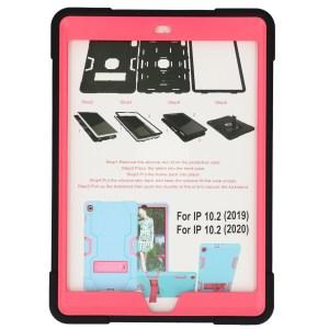 iPad (2019) 10.2 inch zwart - roze Shockproof Case voor