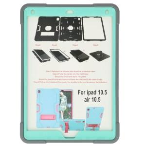 iPad Air (2019) 10.5 inch grijs - turquoise Shockproof Case voor