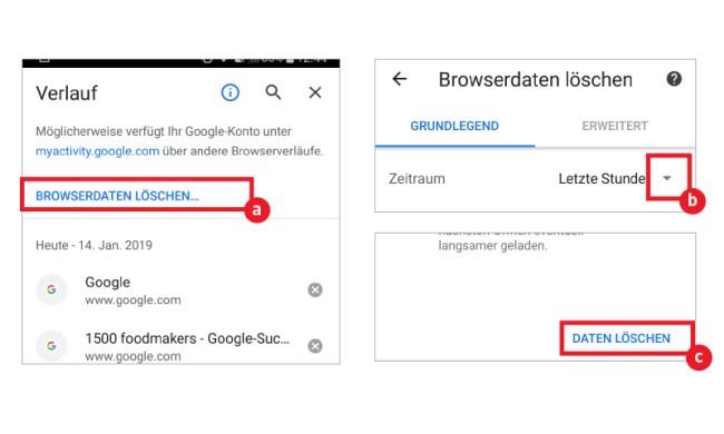 Browserverlauf Handy Löschen