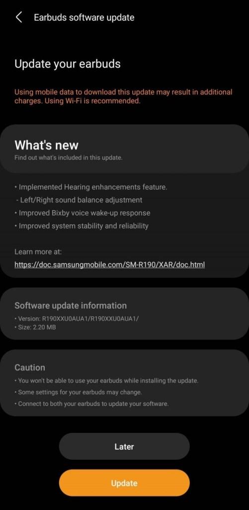 Samsung Galaxy Buds Pro Software-Update