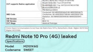Xiaomi Redmi Note 10 Pro FCC