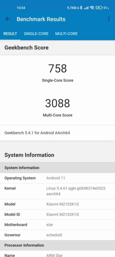 Xiaomi Mi 11 Ultra Geekbench Benchmark
