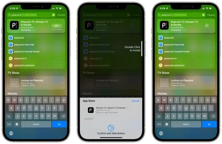 Apple iOS 15 Spotlight Apps