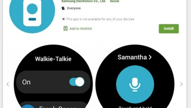 Samsung Galaxy Watch4 Classic WalkieTalkie-App