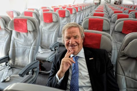 CEO of new airline flying from Gatwick in Boeing 787 Dreamliner cabin