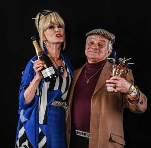 Del Boy lookalike Maurice Canham and Patsy / Joanna Lumley lookalike Sue Bradbury. Please link/credit www.smartpicsuk.com