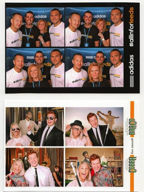A printed photo strip from the Everybooth photo booth used by Smartpicsuk
