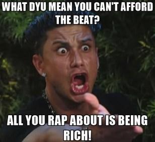 Rap beat meme