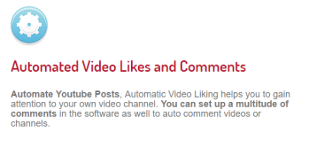 Tube adder automated video likes and comments