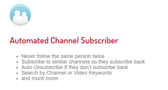 Tube adder channel subscriber