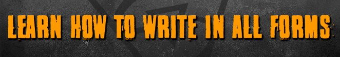 Learn how to write in all forms
