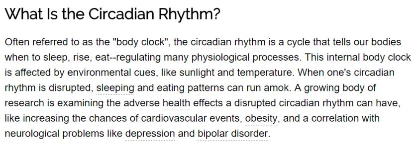 Circadian Rhythm And Sleep