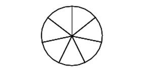 Задача 8 (№ 1644) - На рисунке показано, как выглядит колесо с 7 спицами