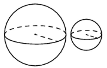 Объём, шар, сравнение