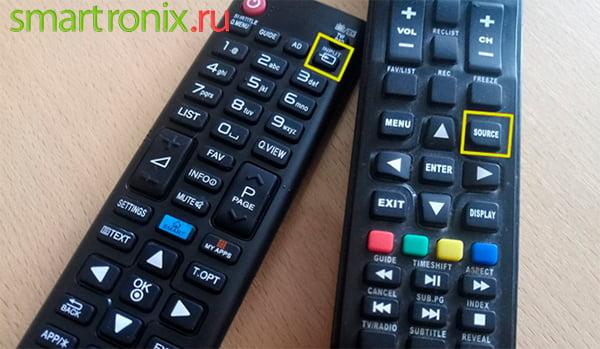 stiskněte požadované tlačítko na dálkovém ovladači televizoru