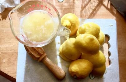 The finished amount of un-strained lemon juice.