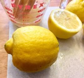 The average size of the lemons I used.