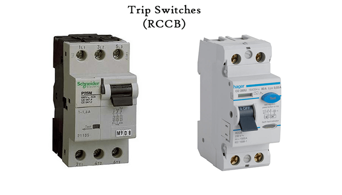 few common trip switch brands you can find