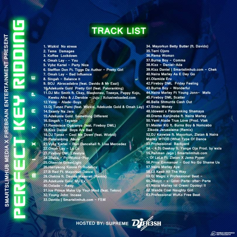 Dj Fresh – Perfect Key Ridding Mixtape Vol. 1
