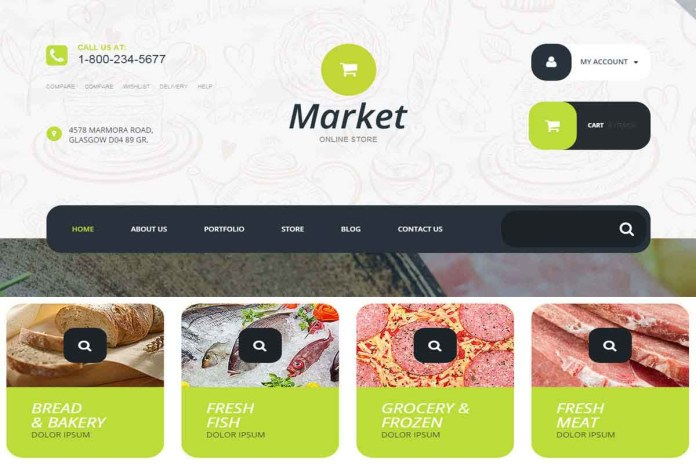 web store themes