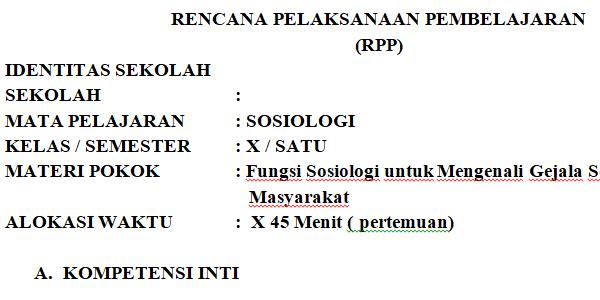 Kelas X ss RPP