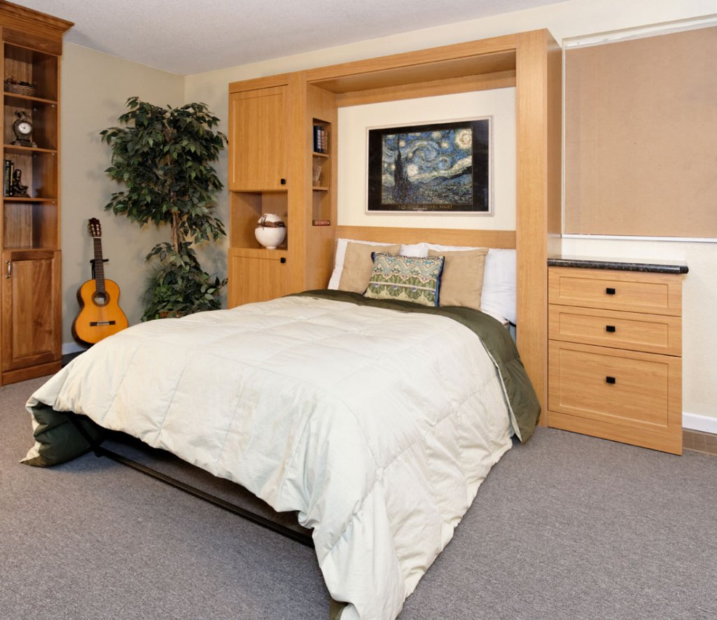Studio desk smartspaces murphy wall bed with cabinets drawers fold down desk amipublicfo Images