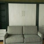 sofa bed, wall to wall, modern, melamine