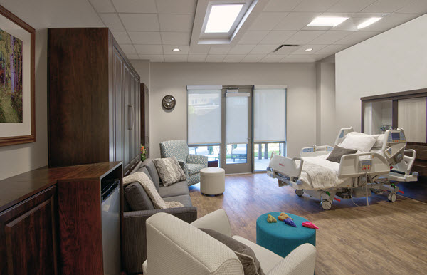 Smart Spaces Installs Custom Murphy Beds in Hospitals, Centura Regional Hospice Care Unit