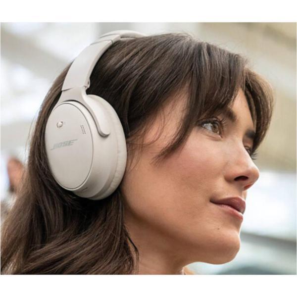 Bose QuietComfort 45 Noise-Canceling Wireless Over-Ear Headphones White Smoke 2