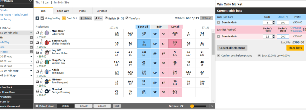 Dobbing Betfair Strategy