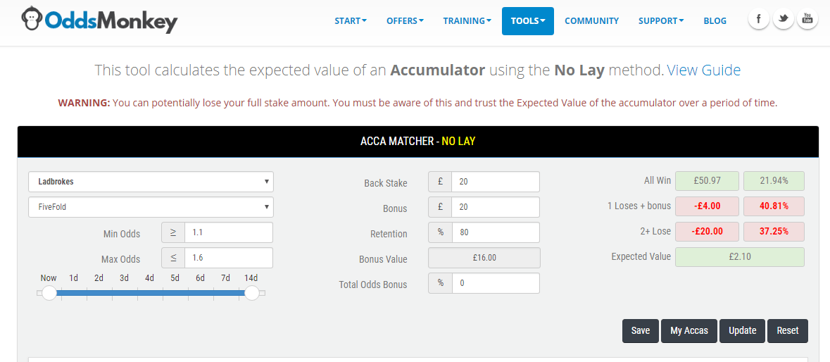 Oddsmonkey Review Acca Matcher