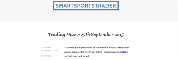 What I've Learnt From Running A Sports Betting Blog Over The Last Two Years