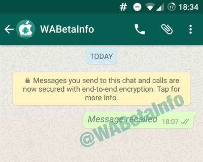 WhatsApp Beta v2.17.26: Cancel or Edit Sent Messages on WhatsApp 1