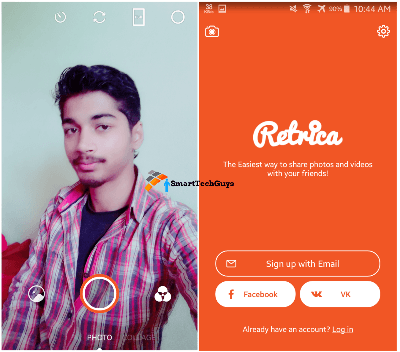 Retrica Selfie Camera Interface