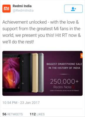 Xiaomi Redmi Note 4 flash sale